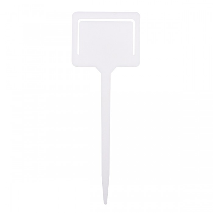 20Pcs White Plastic Plant T-type Tags Markers Nursery Garden